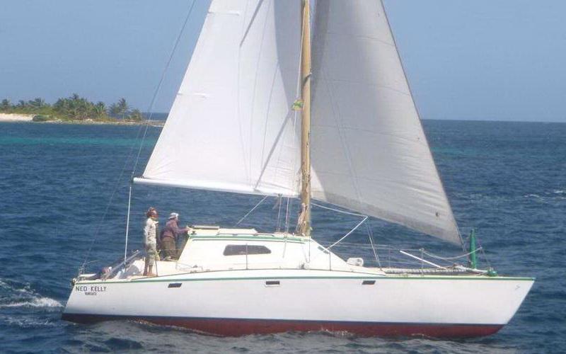 Catamaran en Cozumel al Cielo aereal view